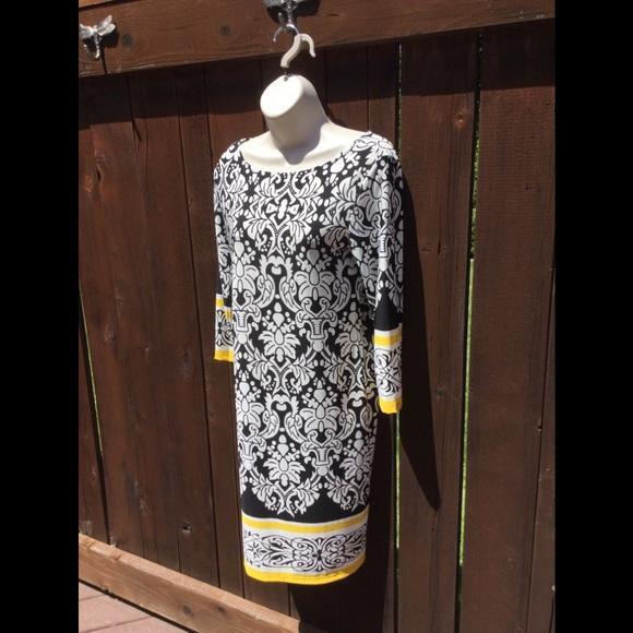 Haani Dresses & Skirts - Never Worn! Haani, 3/4 Sleeve, Boatneck Dress